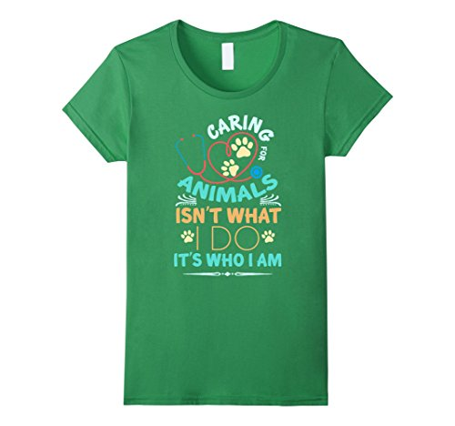 Women's Vet Tech T-shirt , Caring for animals isn't What I do. It's  Medium Grass (Vet Tech License Plate Frame compare prices)