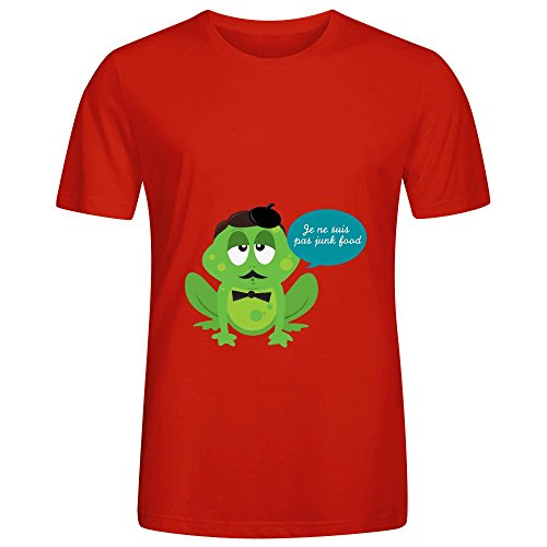 No Junkfood Men O Neck Diy Shirts Red