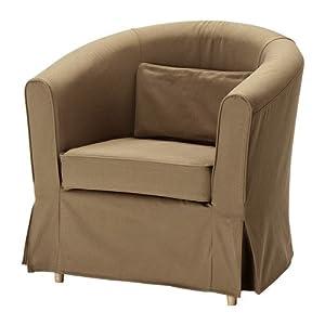 Ikea ektorp tullsta housse de fauteuil marron clair idemo cuis - Housse de fauteuil sans accoudoir ...