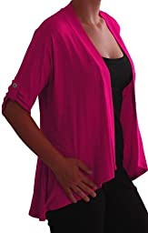 Emily Womens Open Casual Jersey Cardi Ladies Plus Size Cardigan US 22/24
