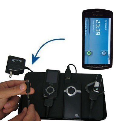 Unique Gomadic 4-Port Charging Station for the Sony Ericsson Zeus - Charge four devices with TipExchange Technology