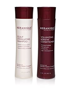 Keranique Volumizing Shampoo-Conditioner, 8 oz. Duo