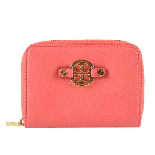 Tory Burch Tory Burch Amanda Zip Around Coin Case w Key ring Strawberry