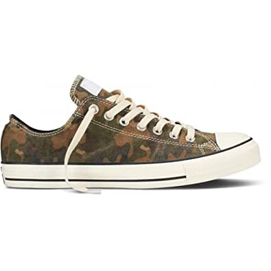 Converse Chuck Taylor All Stars OX Camo Print Shoes - Grape Leaf - UK 5.5