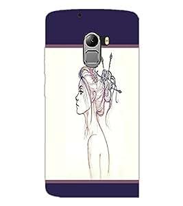 PrintDhaba Girl Sketch D-1380 Back Case Cover for LENOVO VIBE X3 LITE (Multi-Coloured)