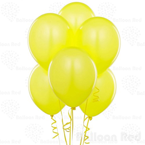 12 Inch Latex Balloons (Premium Helium Quality), Pack of 144, Yellow