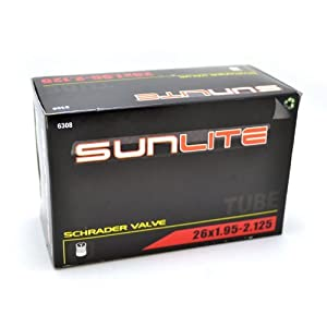 Sunlite Bicycle Tube 26 x 1.95 - 2.125 SCHRADER Valve