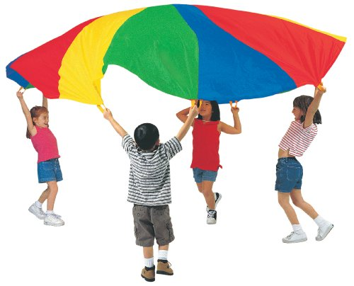 12' Parachute With Handles And Carry Bag front-702263