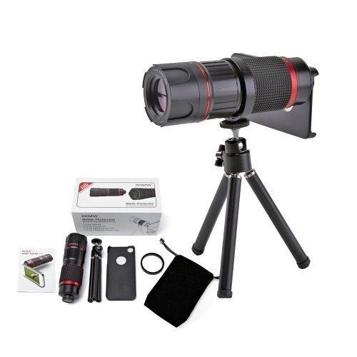 Ivapo 4-12X Zoom Optical Magnification Micro Telephoto Telescope Camera Lens Tripod For 5 5S (Iphone 5/5S)