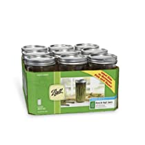 Ball Wide Mouth 24-Ounce Jars with Lids and Bands Set of 9