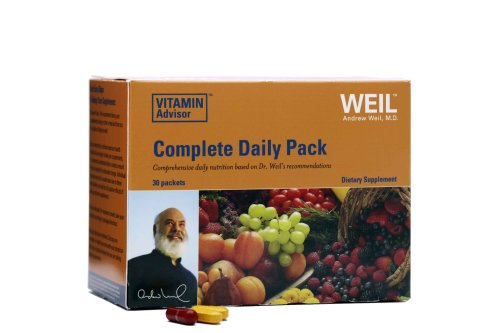 Weil Nutritional Complete Daily Pack Vitamin Supplement, 30-Count Box