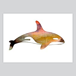 Art Watercolor Print Whale, 11 x 14 inches