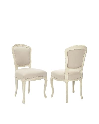 Safavieh Set of 2 Provence French Side Chairs, Taupe