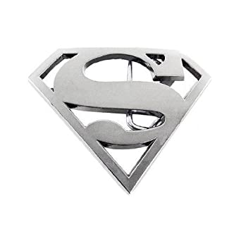 Chrome Superman Logo Belt Buckle