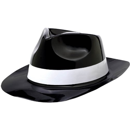 Classic 50's Black with White Band Fedora