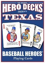 Texas Rangers Baseball Heroes Playing Cards - 1 Deck by Parody Productions