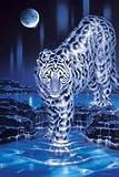光るジグソーパズル 1000ピース スノーレオパード 13-241