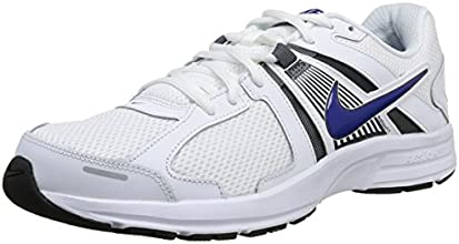 Nike Dart 10 - Zapatillas de running para hombre, color blanco / azul / gris oscuro, talla 41
