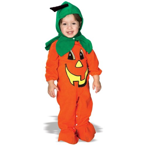 Rubies Costume Co. EZ-On Romper Costume, Lil' Pumpkin, 6 to 12 Months image