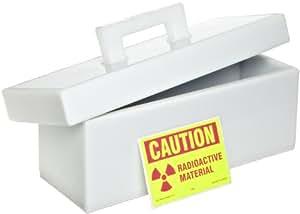 "Bel-Art Scienceware 249600000 High Density Polyethylene Lead Lined Storage Box, 5"" X 14"" X 5"""