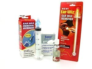 Aculife Ear Wax Removal Syringe, Earol And Ear Wiz Kit - Fast Dispatch