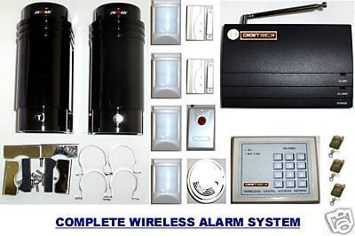 L4E-Wireless Security Solar Ir Beam Burglar Alarm [Electronics]