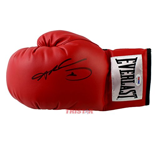 Sugar-Ray-Leonard-Signed-Autographed-Everlast-Red-Boxing-Glove-PSADNA-COA