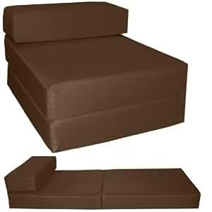 gilda lit d 39 invit marron fresco chaise chauffeuse d plier lit d 39 appoint matelas pliable. Black Bedroom Furniture Sets. Home Design Ideas