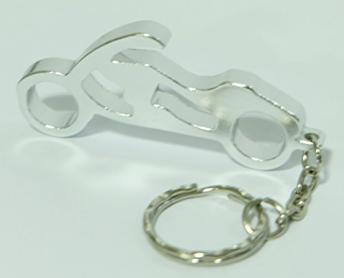 Motorcycle Keychain Ring Key Chain Bottle Openers Beer Bottle Opener Bar Small Beverage (1 piece) (silver) (Brass Knuckle Beer compare prices)