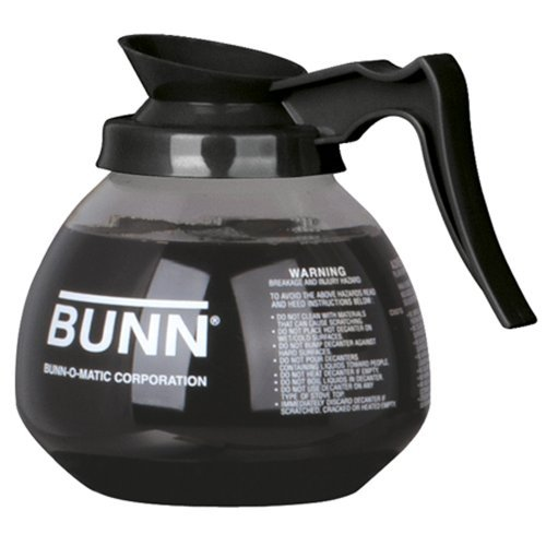 BUNN-Coffee-Pot-Decanter-Carafe-Black-Regular-New-Glass-Design-Shape-Ergonomic-Handle-12-Cup-Capacity