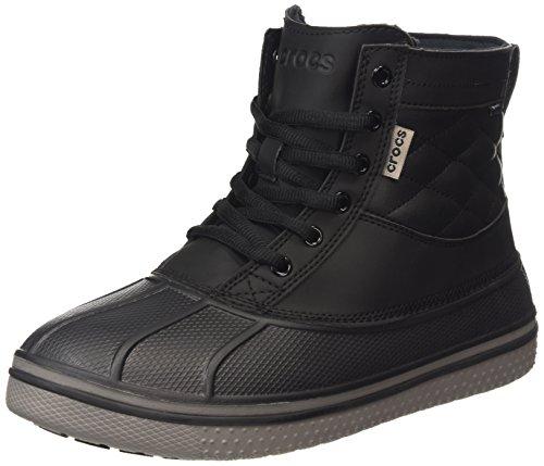 Crocs Allcast Duck Boot Waterproof M, Stivaletti alla caviglia, imbottitura pesante uomo, Nero (Black/Black), 8 UK