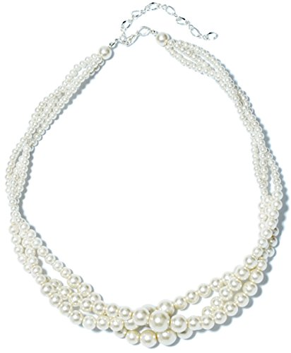 TS Layer Entangled White Pearl Necklace