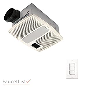 broan qtx110hflt quiet bathroom ceiling ventilation exhaust fan with light an. Black Bedroom Furniture Sets. Home Design Ideas