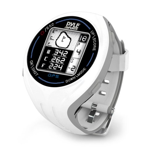 PYLE PSGF605WT Pyle GPS Smart Golf Watch with Course Recognition Green Locator Distance Calculator & Scoring System