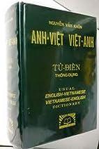 Anh - Viet Viet - Anh; Tu Dien. Thong-Dung.…