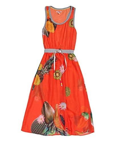 Fracomina Mini Abito [Arancione/Multicolore]