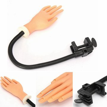 Flexible-Soft-Nail-Practice-Trainer-Hand-Tool-With-Holder-Stand