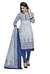 Nidhifabrics Women's Cotton Dress Material (SGP928_Blue_N/A)