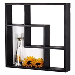 1 Adeco 12ad081 5 Opening Black Wood Wall Shelves Decorative Collage Wall Display Frame For Home Decor Floating Shelves Floating Shelves
