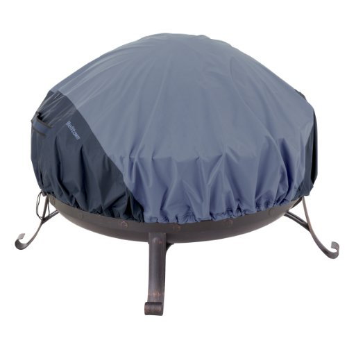 Classic Accessories 55-284-025501-00 Belltown Outdoor Fire Pit Cover, Blue, Round (Small Bbq Pit compare prices)