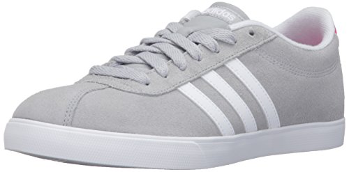 Adidas Performance Women's Courtset W Fashion Sneaker, Clear Onix/White/Shock Pink Silver, 8.5 M US