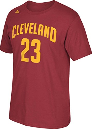 Lebron James Cleveland Cavaliers Burgundy Jersey Name and Number T-shirt