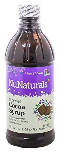 NuNaturals NuStevia Cocoa Syrup Rich Chocolate Syrup Taste In a Zero Calorie Sweetener 16 Fluid Ounce (Ice Cream Mix Mint compare prices)