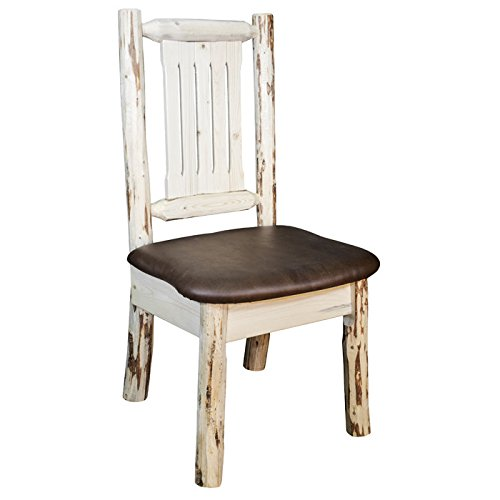 Montana Side Chair with Upholstered Saddle Pattern Seat