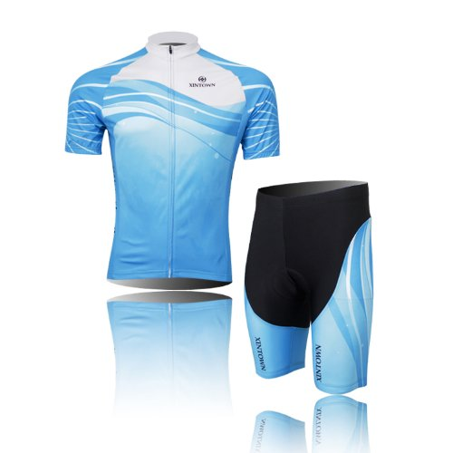 Spos Ride Cycling MTB Fairy Blue Compression Sportwear Short Suit Yours_t_165