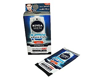 Nivea Men Extra White 10 x Serum SPF 30 PA +++(8 ml x 6) 2 pcs.