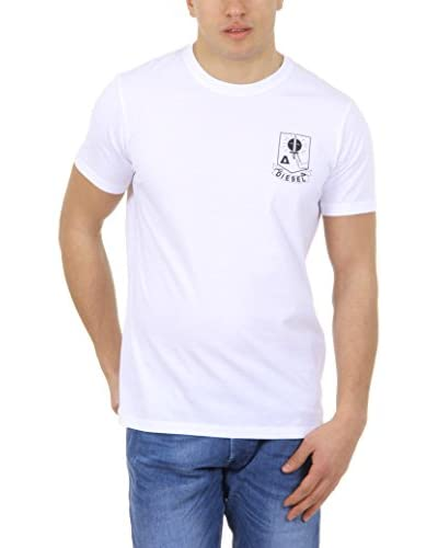 Diesel Camiseta Manga Corta T-Oke Blanco