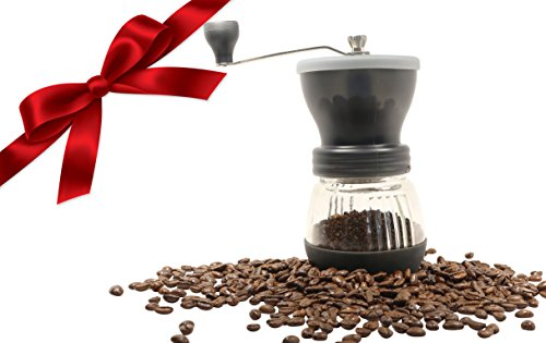 Kitchen Paradise Best Manual Coffee Grinder Mill is Easy to Use and Clean, Dishwasher Safe, Lightweight, and Portable with Adjustable Ceramic Burr for Custom Coarse or Fine Grind, Makes a Great Gift (Usb Coffee Grinder compare prices)