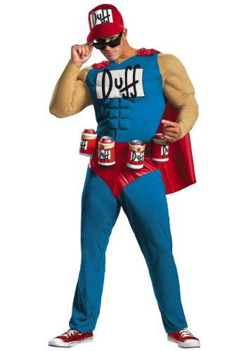 Disguise Mens Classic Muscle The Simpsons Duffman Theme Party Dress Costume