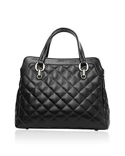 Chancebanda Women's Quilted Top Handle, Black